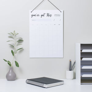 'You've Got This' Monthly Planner Whiteboard