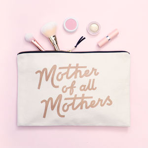 'Mother Of All Mothers' Xl Canvas Pouch - for new mums