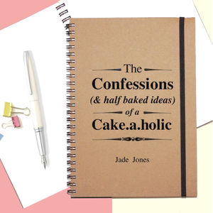 Cake.A.Holic Personalised Notebook