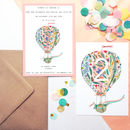 Set Of Air Balloon Party Invitations