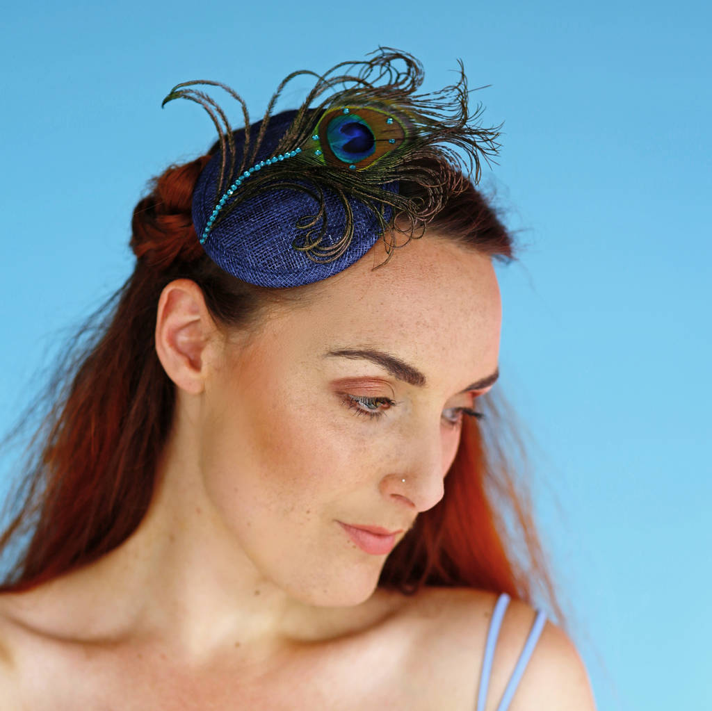 peacock crystal fascinator by holly young millinery ... b6874458ba8