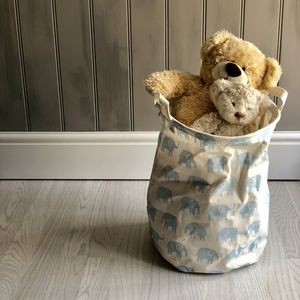 Blue Elephant Large Storage Basket - boxes, trunks & crates
