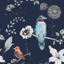Birds And Flowers Bespoke Variation Wallpaper