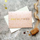Newlywed Modern Wedding Card