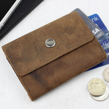 Leather Foldover Wallet