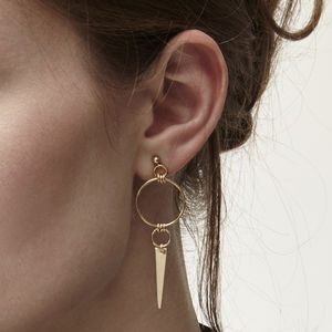 Hanley Spike Gold Earrings