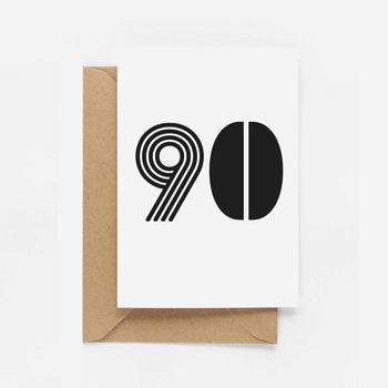 90th Birthday Milestone Card