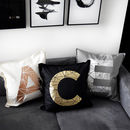 Personalised Metallic Initial Letter Cushion