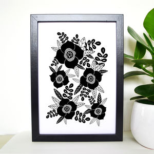 Floral Bloom Art Print - drawings & illustrations