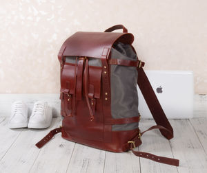 Leather And Nylon Backpack Personalised - whats new