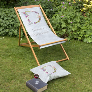 Personalised Letter Beach And Garden Deckchair - 40th birthday gifts