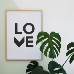 'Love' Poster - posters & prints for children