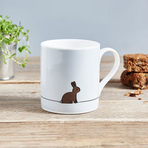 Rabbit Mug, Fine Bone China