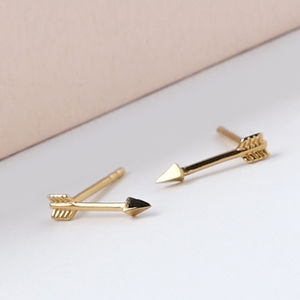 Gold Plated Arrow Stud Earrings - our favourite summer jewellery