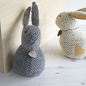 Personalised Bunny Rabbit Doorstop - office & study