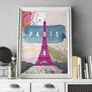 Paris Eiffel Tower Landmark Print
