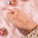 Personalised Luxury Christmas Gift Tag
