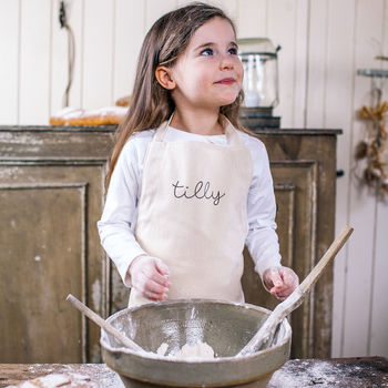 Personalised Children's Name Cotton Apron