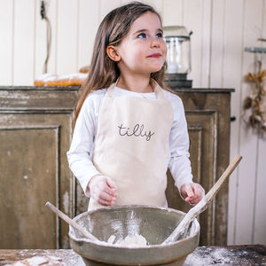 Personalised Children's Name Cotton Apron - baking