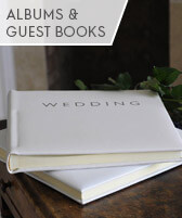 wedding albums and guest books