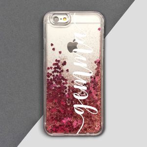 Personalised Waterfall Glitter Phone Case