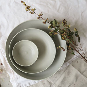 Ceramic Shallow Nesting Serving Bowl Set - tableware
