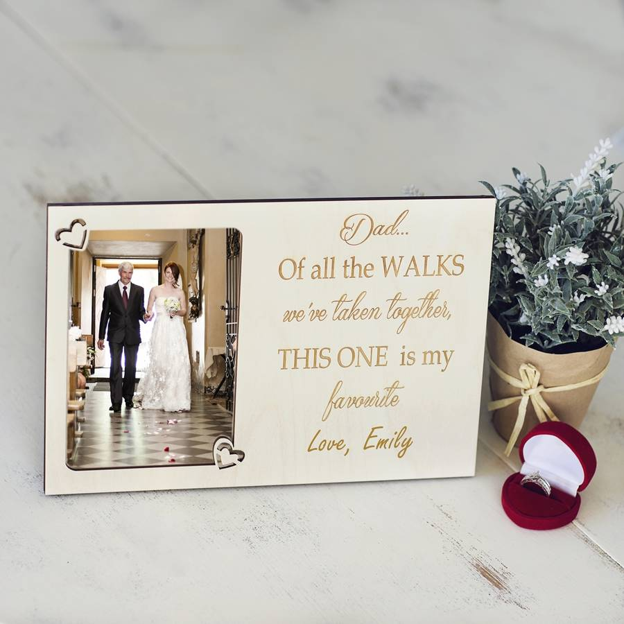 Father Of The Bride Personalised Photo Frame