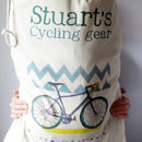 Personalised Cycling Storage Bag - close up
