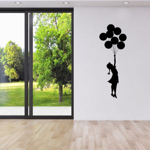 Banksy Balloon Girl Wall Sticker - bedroom