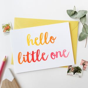 Hello Little One Baby Girl Card