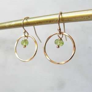 Peridot And Rolled Gold Earrings