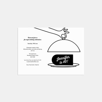 Party Cloche Birthday Invitations
