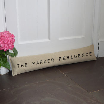 Personalised Home Draught Excluder