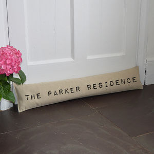 Personalised Home Draught Excluder - door stops & draught excluders