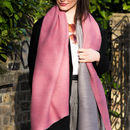 Personalised Pleated Cashmere And Modal Scarf Shawl
