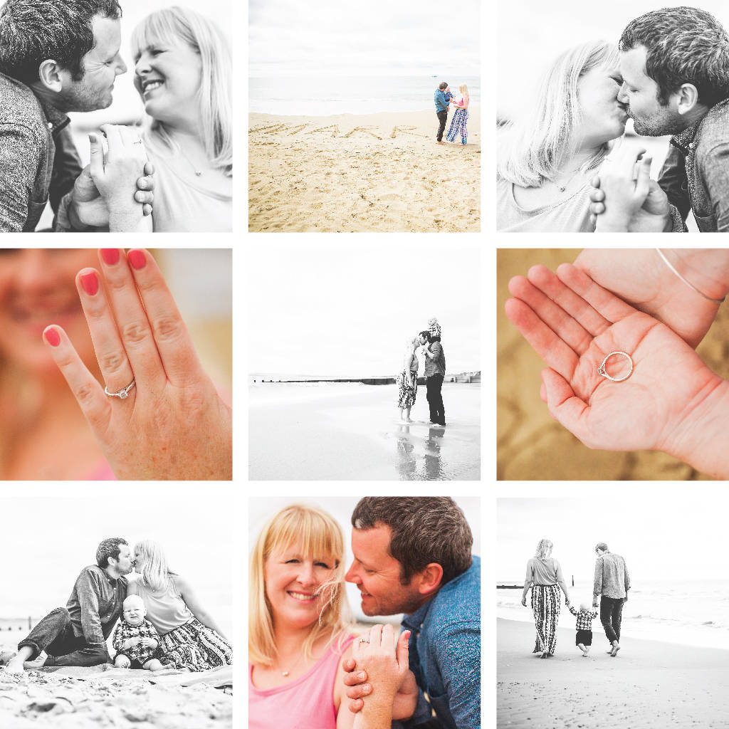 Romantic couples beach photography session