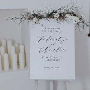Felicity Welcome Sign - table plans