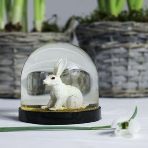 Snowglobe, Rabbit Gold - snow globes & ornaments