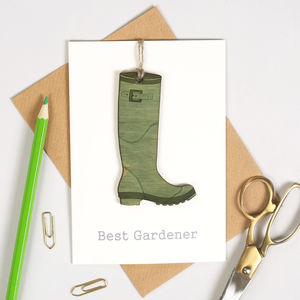 Personalised Gardeners' Keepsake Birthday Card - birthday cards
