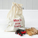 Personalised 'Little Trains' Travel Sack