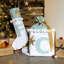 Christmas Stocking And Santa Sack Set Pastel Mint