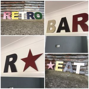 British Made Colourful Metal Letters - art & decorations