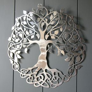 Silver Tree Of Life Wall Art - home accessories
