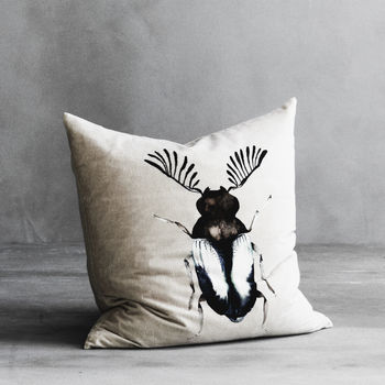 Birea Velvet And Linen Cushion