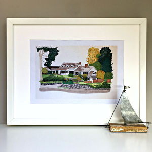 Personalised House Portrait Illustration - architecture & buildings