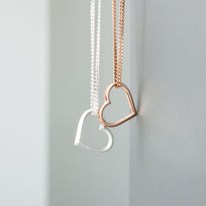 Sterling Silver Floating Heart Necklace - necklaces & pendants