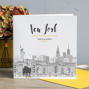 Personalised New York Skyline Card
