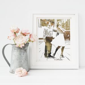Personalised Foil Photograph Print - gifts for him