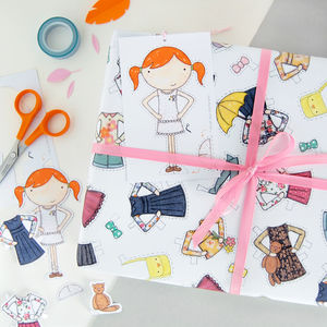 Clara Paper Doll Wrapping Paper Set - summer sale