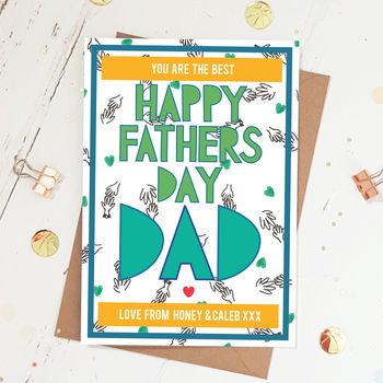Happy Fathers Day Dad Personalised Card